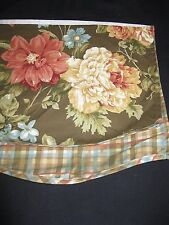 "Woolrich  Country Valance Floral Plaid Sculpted edges 64"" w x 13""L EUC!"