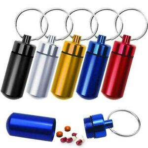 Waterproof Aluminum Pill Box Case Bottle Cache Drug Container Holder T7T8
