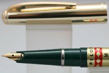 Vintage Pilot 57 Fountain Pen, Dark Green with Gold Plated Cap, Cased