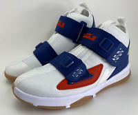 Size 5Y Nike LeBron Soldier 13 LA Big Kids White Basketball Shoes CU4133-124