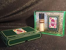 Vintage Geschenkset grün Tabac Parfüm und Luxus Seife 70er Jahre ungeöffnete OVP