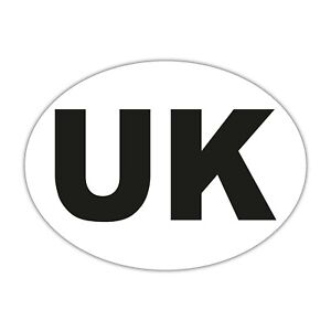 UK Car Stickers - White Oval Self-Adhesive Vinyl New GB Stickers for Cars, Vans