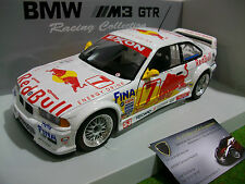 BMW E36 M3 GTR 1997 Racing #7 RED BULL au 1/18 UT Models 39715 voiture miniature