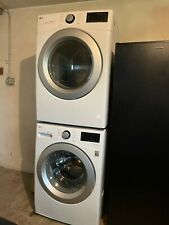 Lg Wm3500Cw 4.5 cu ft. Front Load Washing Machine & Dle3500W Electric Dryer Set