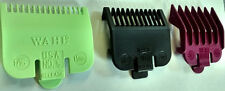 WAHL COLOUR CLIPPER GUARD ATTACHMENT COMBS **Pack of 3** - SIZES: 0.5 / 1 / 1.5