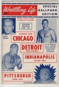 Wrestling Life Mag Buddy Rogers Pat O' Connor Dick Bruiser June 1961 072621nonr