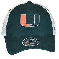 NCAA Zephyr Miami Hurricanes Mesh Curved Bill Snapback Men Adjustable Hat Cap