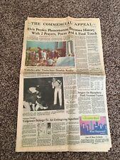 The Commercial Appeal Newspaper Elvis Presley Funeral August 19, 1977