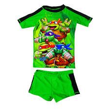 Childs Official Teenage Mutant Ninja Turtles Rash Swimsuit Holiday Swim Costume