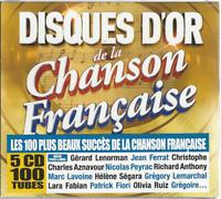 5 CD 100 TUBES DISQUES D'OR DE LA CHANSONS FRANÇAISE CO120