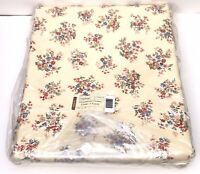 NEW Longaberger Sweetheart Floral Fabric 5-Yards Yellow Floral Print Flowers