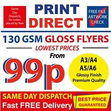 1000 A6 A5 A4 A3 Flyers Leaflets Printed Full Colour Cheapest Printing ~ £0.99