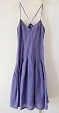 womens purple ARMANI EXCHANGE dress sundress spaghetti strap cotton boho S 6