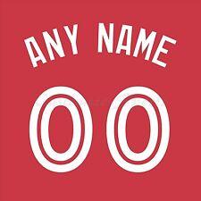 Béisbol Toronto Blue Jays alternativo Rojo Jersey número Personalizado Kit un-stitch