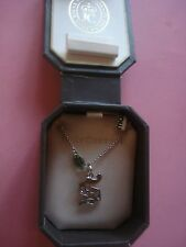 "JUICY COUTURE LETTER ""S"" NECKLACE RHINSTONE NEW IN BOX"