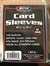 (100) BCW STANDARD CARD SLEEVES Trading Sports  Baseball Football Card ID1