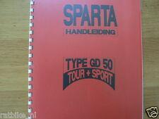 S0210 SPARTA---HANDLEIDING GD 50 ( TOUR + SPORT )----MODEL