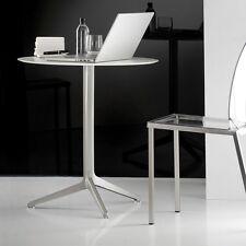 Table PEDRALI YPSILON 4790T diamètre 70cm Pliable pied aluminium poli