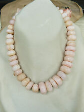 "Pink Peruvian Opal Faceted graduated beads 15 to 22mm 735 Carats 16"" 42 Opals"
