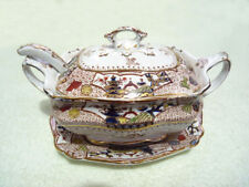 Antique Ford & Son Tureen With Spoon and Stand