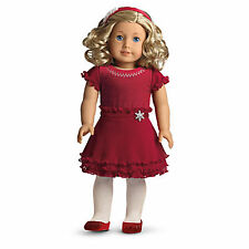"""American Girl MY AG MERRY & BRIGHT DRESS for 18"""" Dolls Charm Red Retired Outfit"""