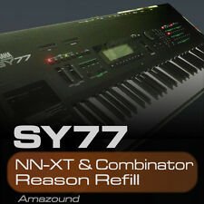 YAMAHA SY77 REASON REFILL 128 NNXT & COMBINATOR PATCHES 2464 SAMPLES 24bt MAC PC