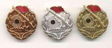 DDR Kampfgruppen Abzeichen Schiesssport gold, silber und bronze; 3 Stück