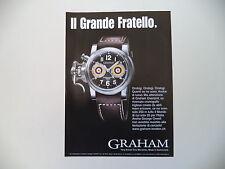 advertising Pubblicità 2004 OROLOGIO GRAHAM
