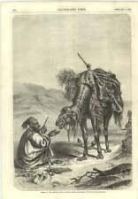 1856 Dinner In The Desert Camel Rider Gun Hermann Kretschmer Artwork Engraving