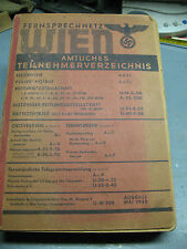 AUSTRIA  TELEPHONE  DIRECTORY  WITH BUSINESS  SECTION  734pp & 248pp