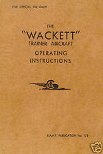 COMMONWEALTH CA-6 WACKET - RAAF PUBLICATION No.173