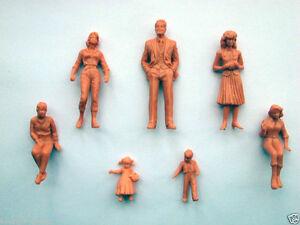 100pcs Model Trains 1:25 Scale Unpainted Skin Color Figures G