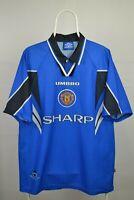 Mens Football Shirt  Manchester United Third 3rd 1996 1997 Umbro Sharp - Size XL