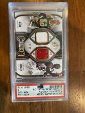 09-10 UD SP Game Used Michael Jordan Ray Allen DUAL JERSEY GOLD 14/35 2009 Psa 8