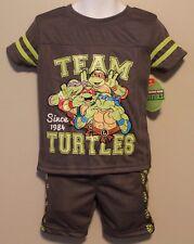 BOYS 12 months Teenage Mutant Ninja Turtle 2-pc mesh outfit NWT t-shirt shorts