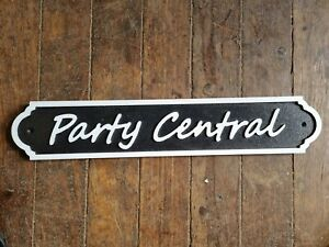 Party Central  51.5CM LONG SIGN NEW HOME BAR 02