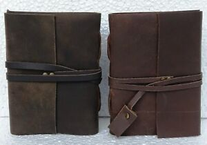 Leather Journal Diary Handmade Vintage Blank Notebook Book notebook Lot of 8