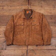"""Mens Diesel Work Apparel Vintage Quilt Lined Suede Jacket Brown XL 48"""" R4123"""