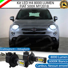 KIT H4 A LED PER FIAT 500X MY2018 LAMPADE LED H4 6000K XENON BIANCO NO AVARIA