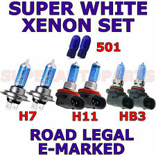 FITS VOLVO C70 2006-ON SET H7 HB3 H11 501 XENON SUPER WHITE  LIGHT BULBS