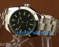 971 Parnis 40mm Sapphire Glass Black Dial Stainless Steel Automatic Men's Watch