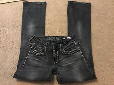 Miss Me Jeans Denim Brand 25 Sunny Boot Jeans Black Inseam 31