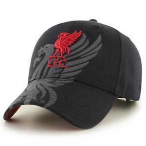 Official LIVERPOOL FC Black Baseball CAP Hat Liverbird LFC Gift