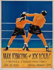 "JOE LOUIS vs MAX SCHMELING I  11""X14""  BOXING POSTER - PRO BOXING"