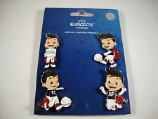 "EM 4-Pin-Set ""Super Victor"" UEFA Euro 2016 tm Maskottchen Set 1 Mascot"