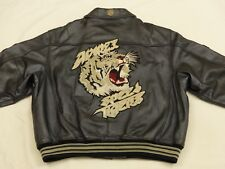 AVIREX USA vintage giacca di pelle casual Varsity SPEED TIGERS gr : XXXXL rarità