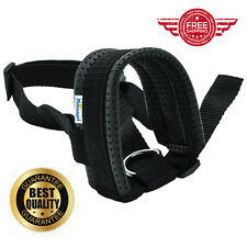 Black Extra Large Quick Fit Nylon Dog Muzzle Adjustable Loop Anti Bite Bark Gear