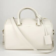 06cee7313ce $1990 Saint Laurent YSL White Leather Medium Boston Crossbody Bag 322049  9008