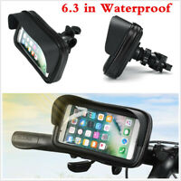360° Waterproof Motorcycle Bike Mount Holder Case Cover for 6.3inch Mobile Phone