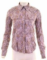WRANGLER Womens Shirt Size 12 Medium Multicoloured Floral Cotton  EQ16